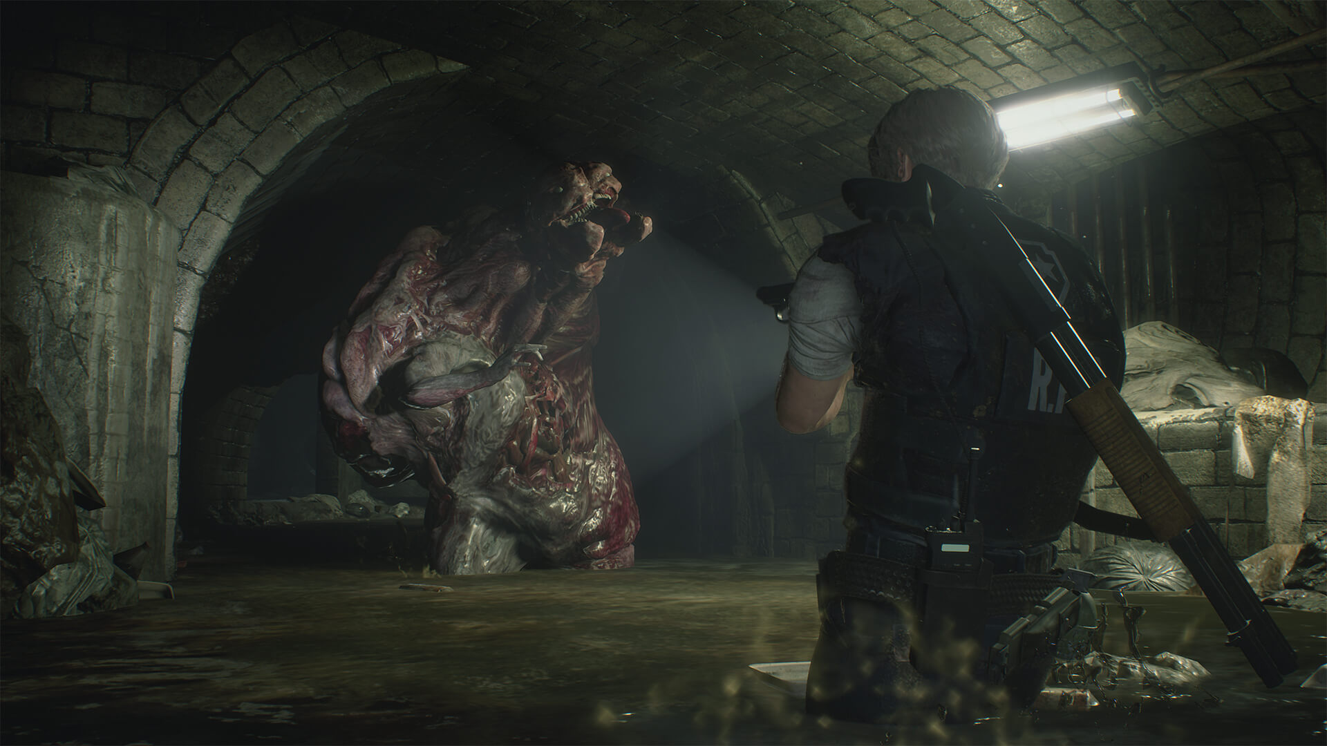 Resident Evil 2 Remake Tyrant Licker Co Besiegen Gamez