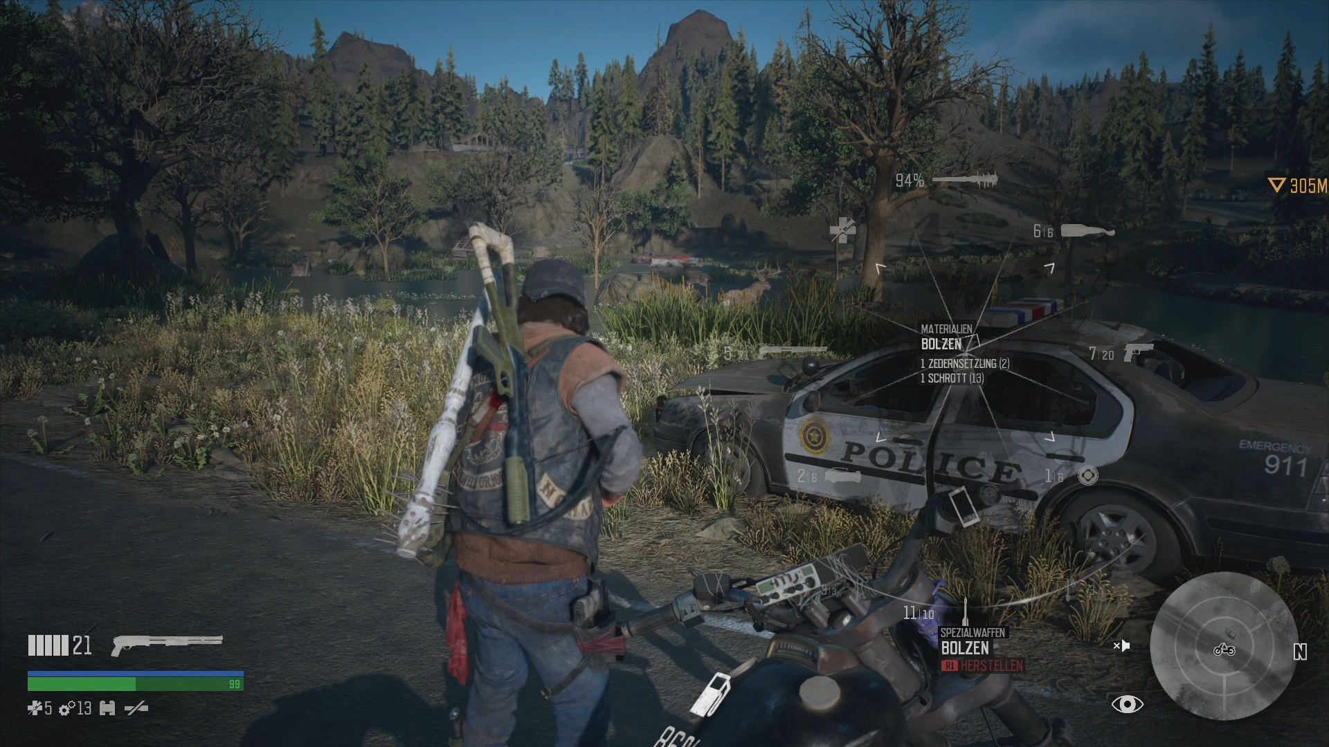 days gone cheats waffen